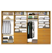 Isa Custom Closet - 4 Module Packages (72-144&quot; wide)