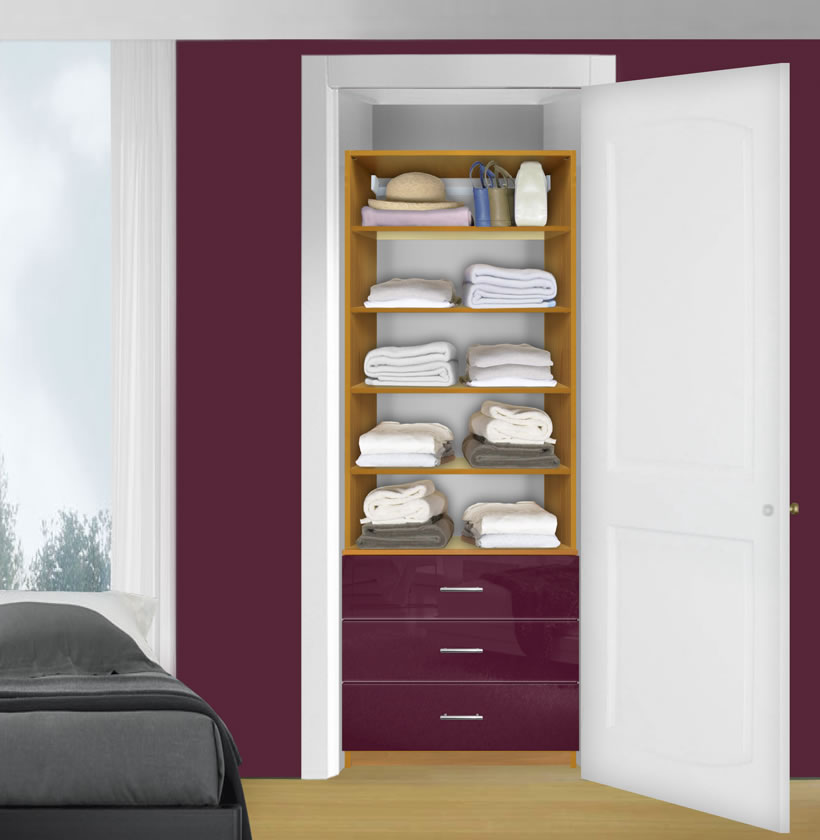 Closet Drawer Units: Isa Custom Closet Organization Unit, 3 Drawers, 4