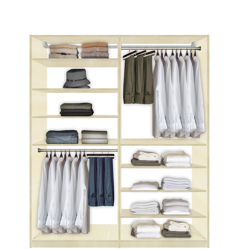 Contempo Space Isa Closet System - High and Low - Easy to Reach Everything at Sears.com