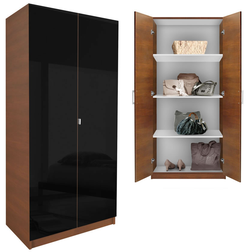 alta wardrobe cabinet 3 shelves doors contempo