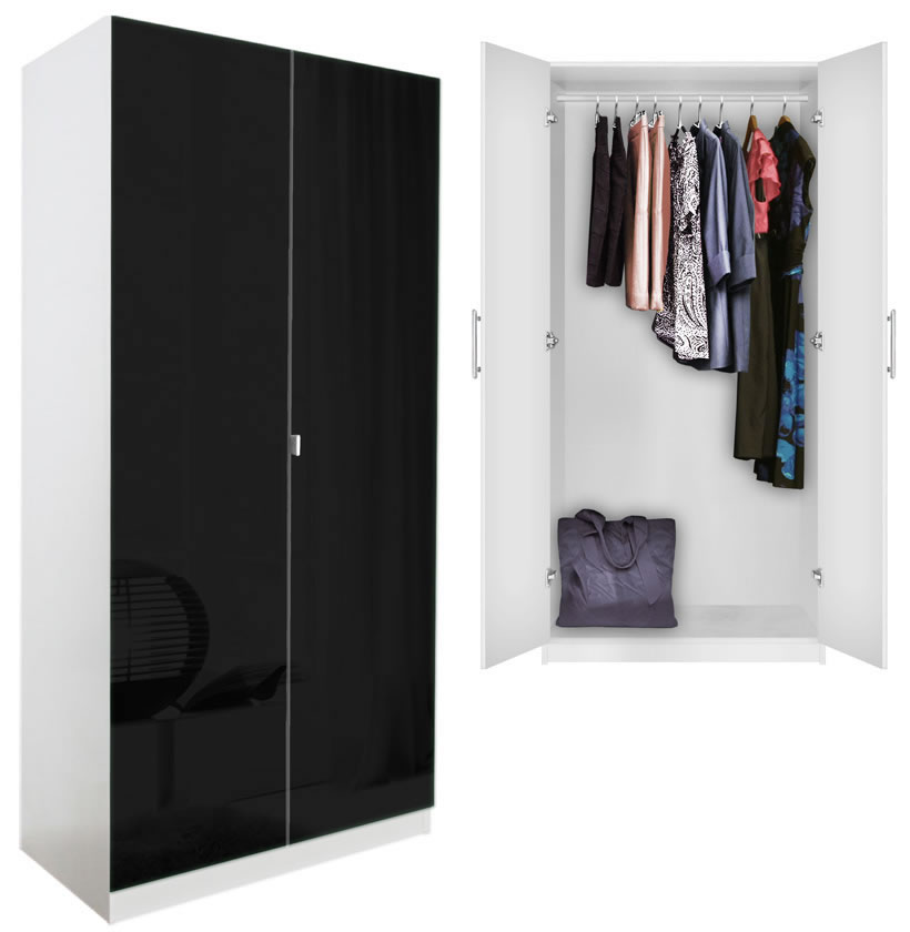 Alta Wardrobe Closet Free Standing Wardrobe With Doors