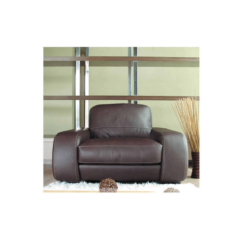 Diego Chair 44 Inch Wide Leather Chair In Brown Or Creme