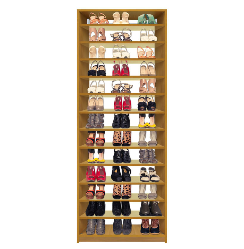 Isa Custom Closet Shoe Storage Organization Closet Module 12