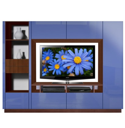 Bingham Wall Unit Wildflower Blue Colored Glass