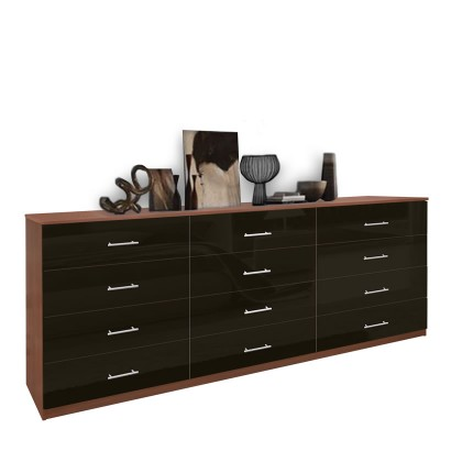 Modern 12 Drawer Triple Dresser