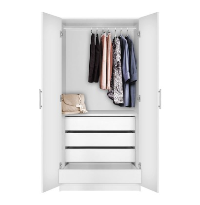 Alta Wardrobe Closet 2 Doors 4 Interior Drawers