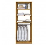 Isa Custom Closet - Hanging Closet, 3 Shelves Above