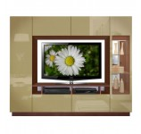 Michael Wall Unit with Clear Glass and Accent Lighting