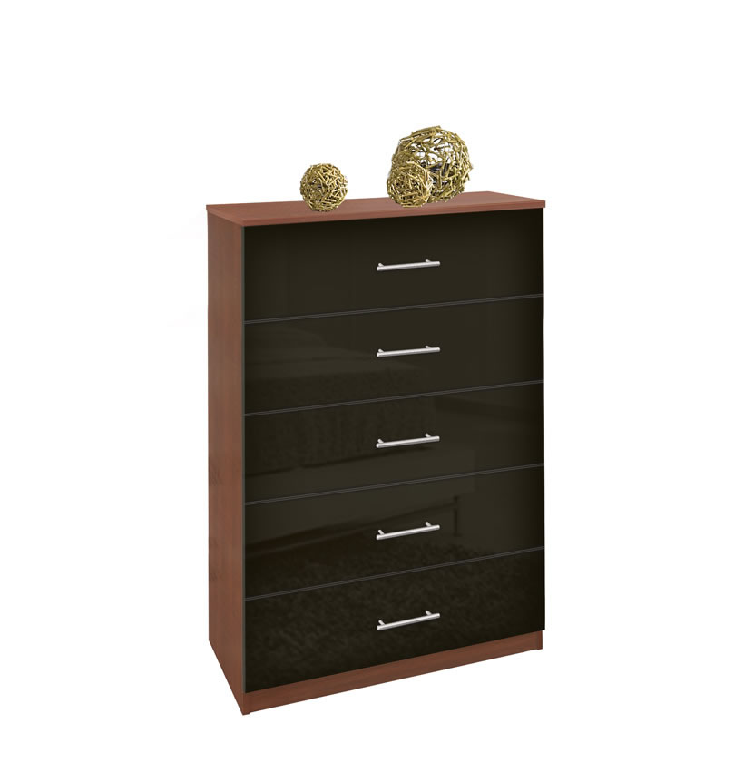 Modern Tallboy Dresser - 5 Drawer Chest of Drawers | Contempo Space