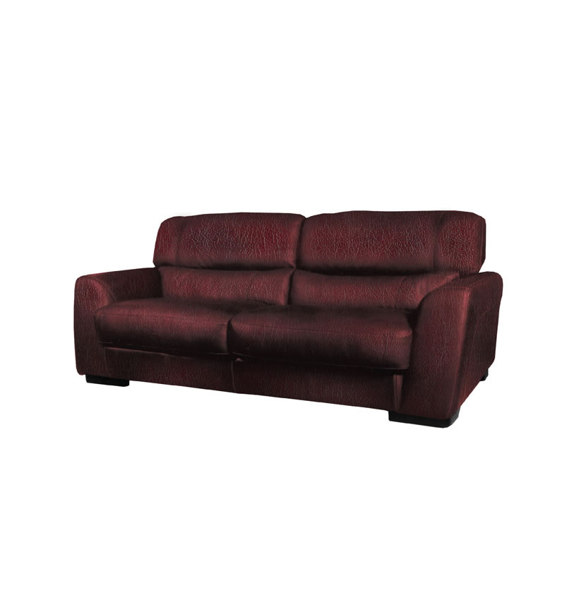 Adrian Loveseat Modern Leather Loveseat In Burgundy Or Chestnut Leather Contempo Space