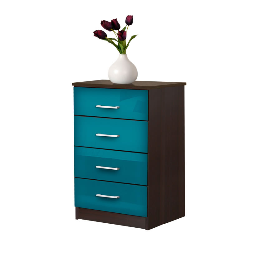 Tall nightstand contemporary 4 drawer nightstand for Tall modern nightstands