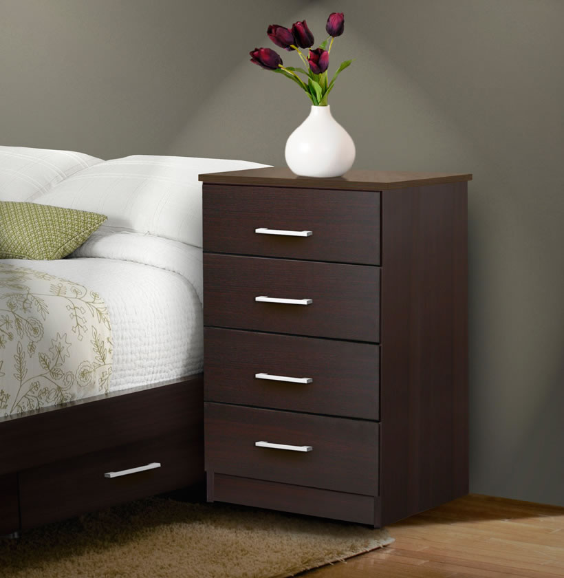 Tall nightstand contemporary 4 drawer nightstand for Extra tall nightstands