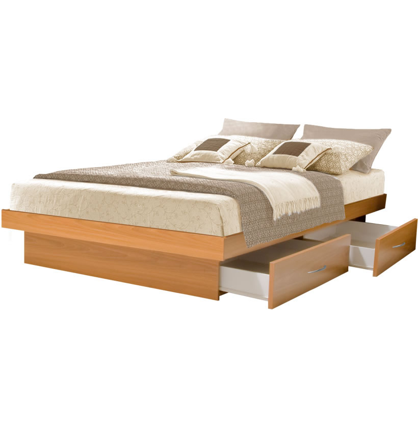 King Platform Bed with 4 Drawers | Contempo Space