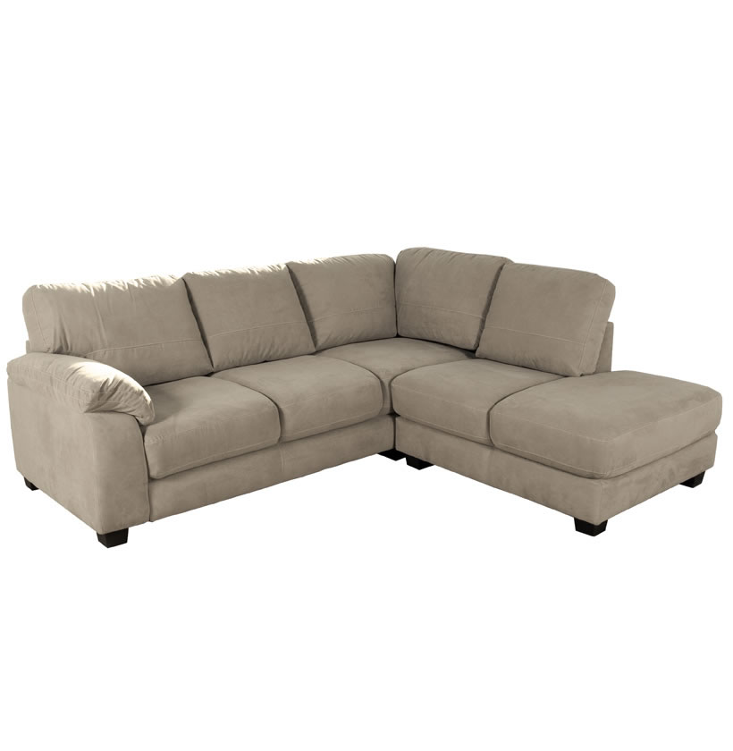 Bryce Sectional Sofa - Microfiber L Shaped Sectional : Contempo Space