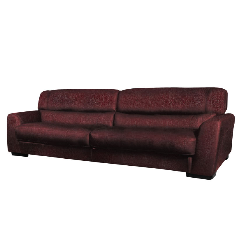 Adrian Sofa Modern Leather Sofa In Burgundy Or Chestnut Leather Contempo Space