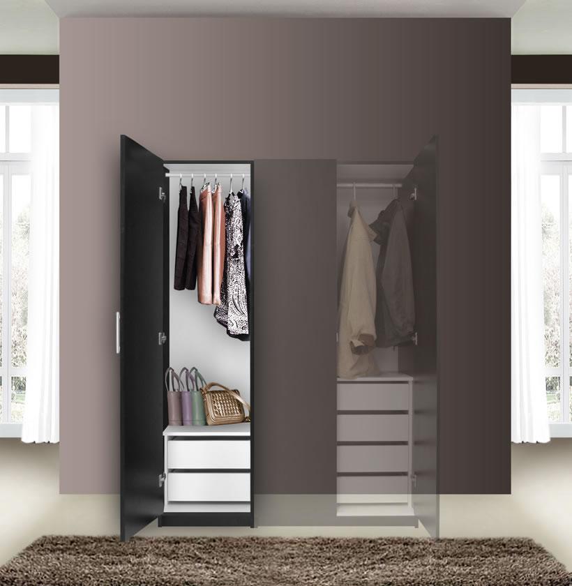 Alta Narrow Wardrobe Closet Left Door 2 Interior