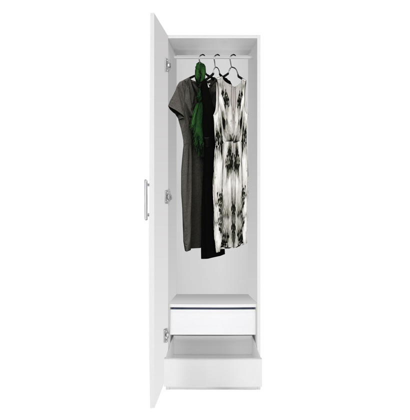 Contempo Space Alta Narrow Wardrobe Closet - Left Door, 2 Interior Drawers at Sears.com