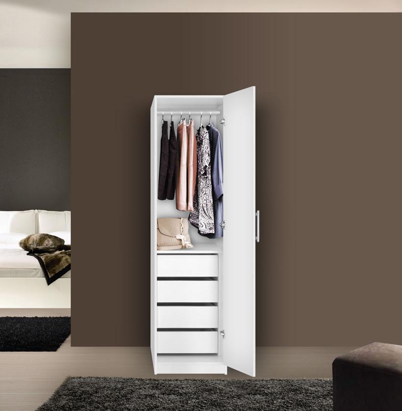 alta super space saver narrow wardrobe right door 4