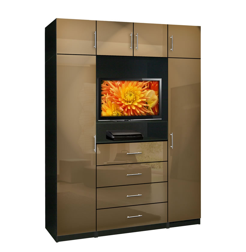Aventa bedroom tv armoire x tall contempo space for Armoire tv