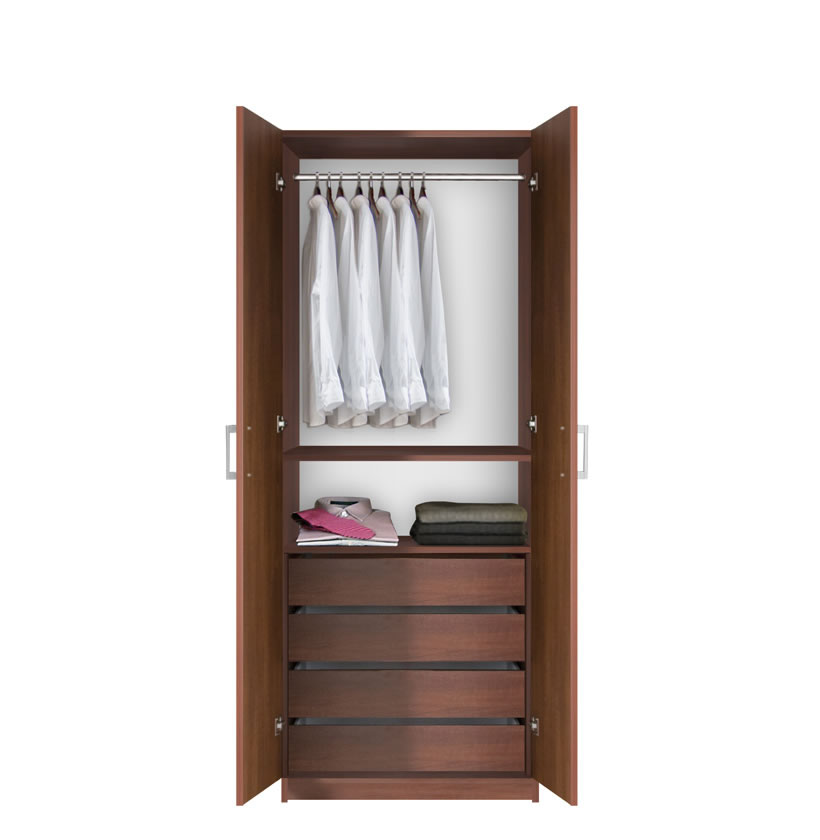 Bella hanging wardrobe armoire closet contempo space for Armoire tv