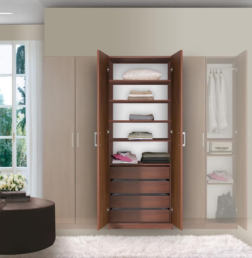 bella wardrobe armoire modern bedroom storage contempo space