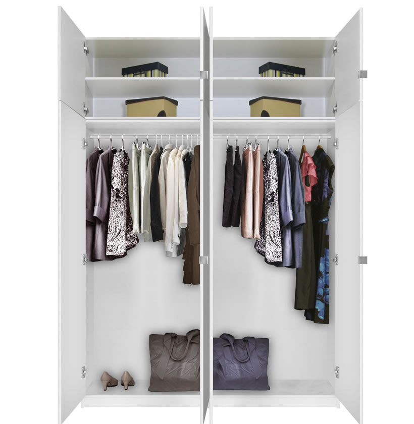 Alta Free Standing Closet 8 Door Taller Package