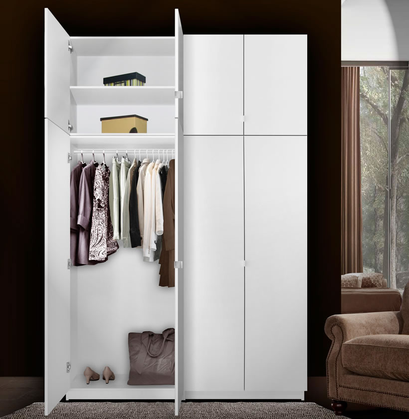 Alta 8 Door Wardrobe Closet Basic Package Extra Tall