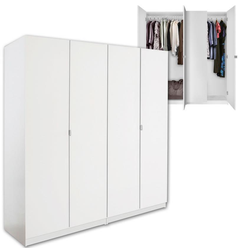 Alta 4 Door Wardrobe Closet Basic Package Free Standing