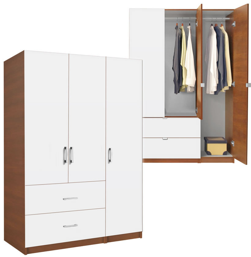 wardrobe closet wardrobe closet armoire with hanging rod. Black Bedroom Furniture Sets. Home Design Ideas