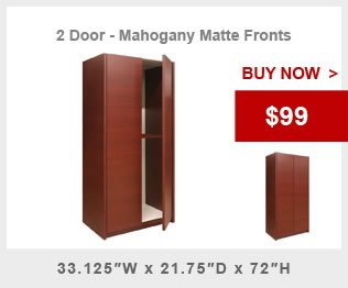 Two Door Magogany Wardrobe Cabinet Promo