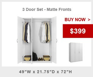 3 Door Wardrobe Package Alta Wardrobe Collection