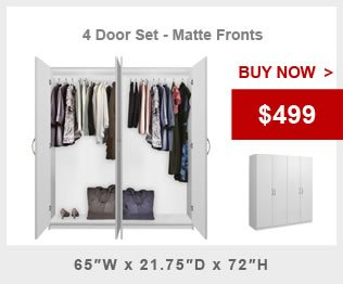 4 Door Wardrobe Package Alta Wardrobe Collection