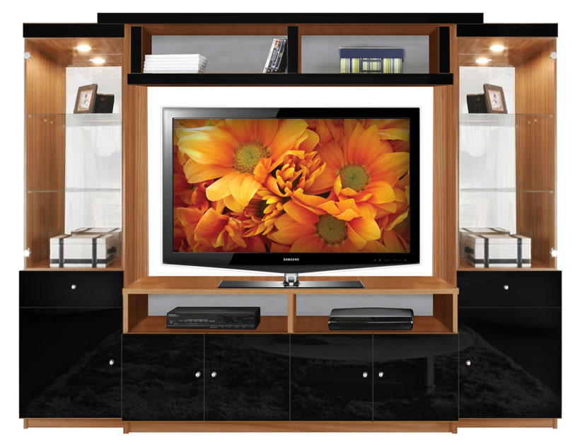 Emma Entertainment Center Black Glass