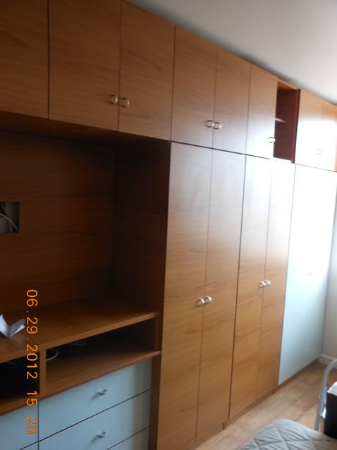 Custom Bedroom Wall Unit w Doors, Drawers & TV Space – Contempo ...