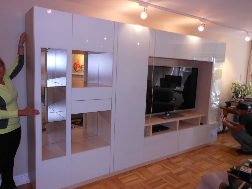 Large Custom Entertainment Center & Large Custom Entertainment Center in White u2013 Contempo Space Blog