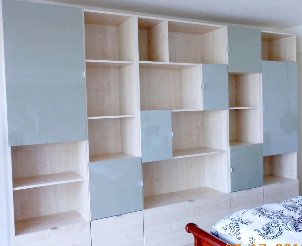huge selection of 77537 631fb Custom Bookshelves with Doors and Drawers on Long Island ...