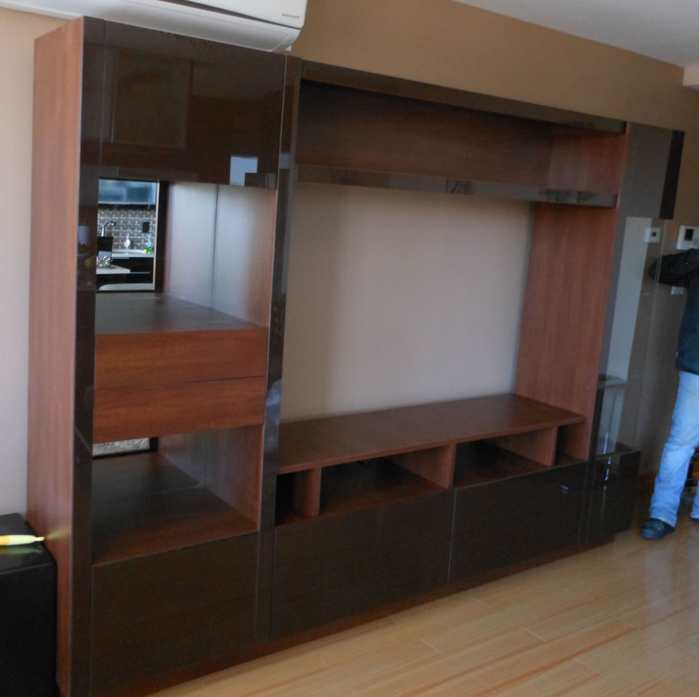 tv wall units custom wall unit in ny contempo space 11210