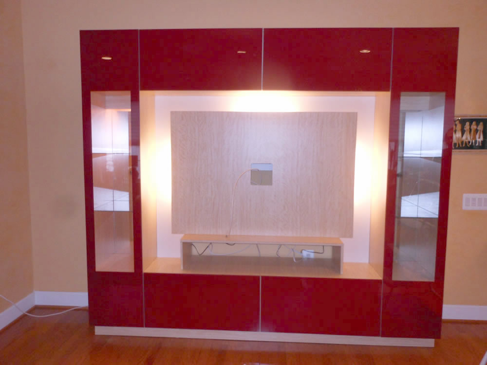 entertainment center red glass we call this glass color colonial red - Glass Entertainment Center