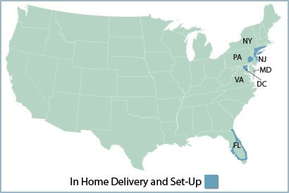 Map of Furniture Delivery Areas