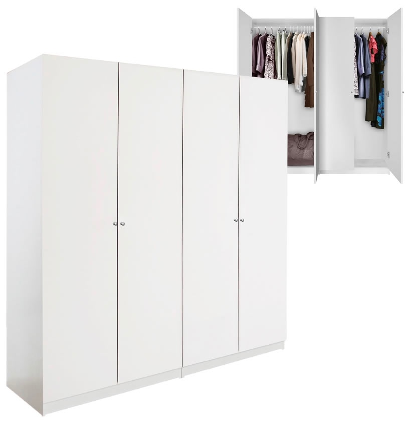 Alta 4 Door Wardrobe Closet Basic Package Free Standing Contempo
