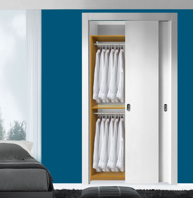 Double Hanging Closet Module; Closet Modules Can Be Combined; Closet  Storage Is Doubled
