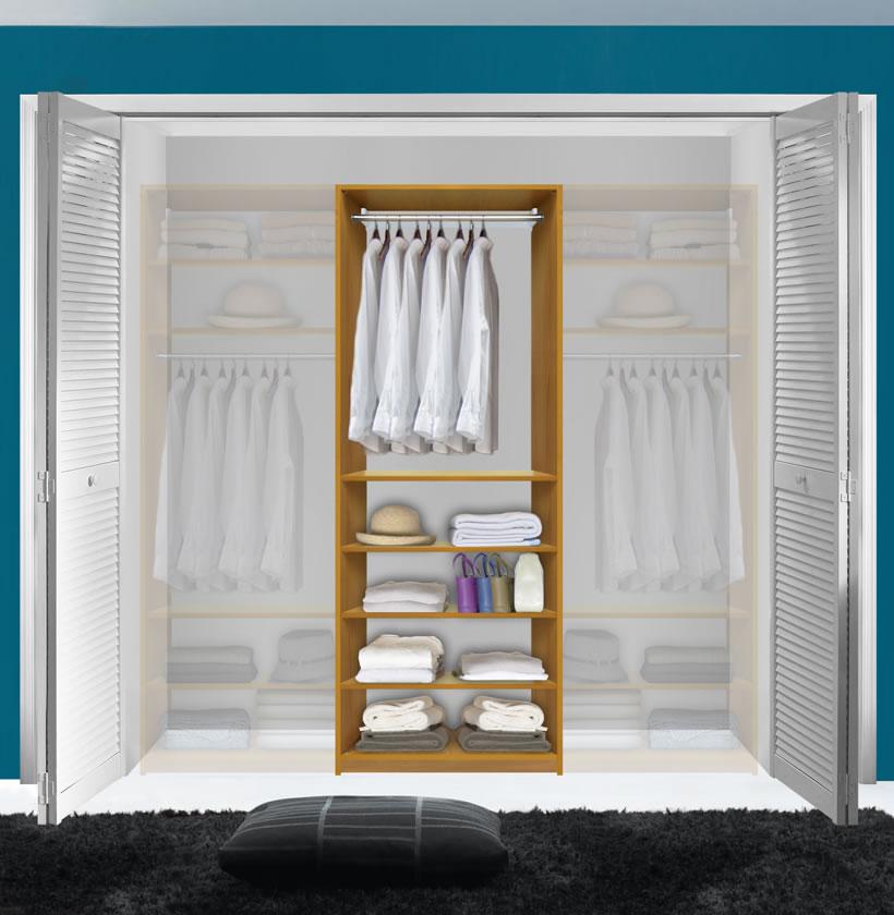 Closet System With Shelving; Adjustable Shelves Inside Closet ...