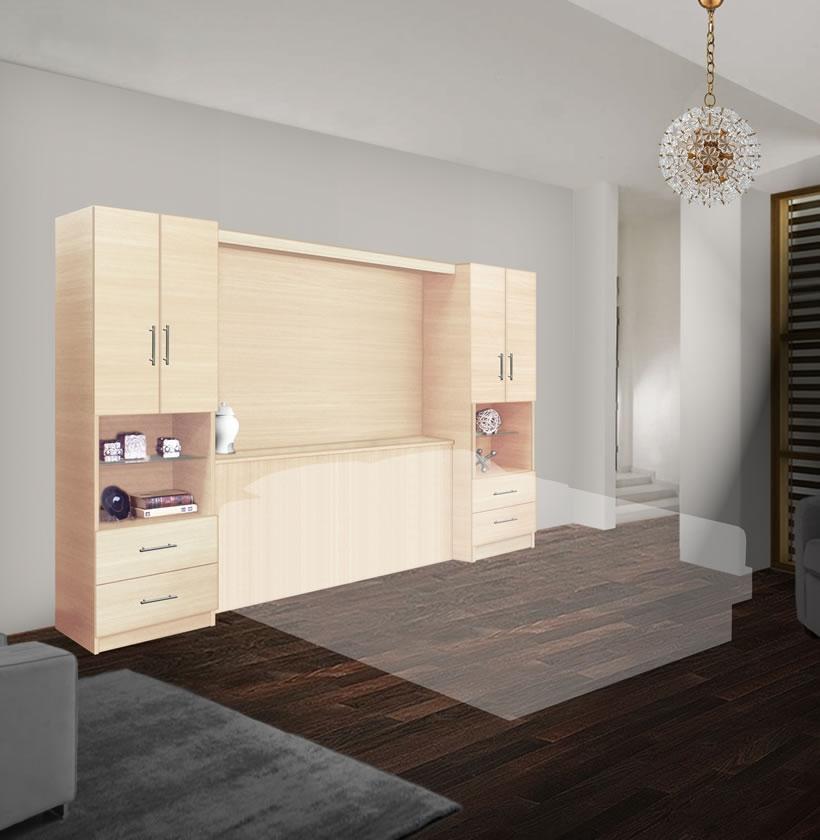 Studio Bedroom Set Queen Pier Wall Cabinet Storage