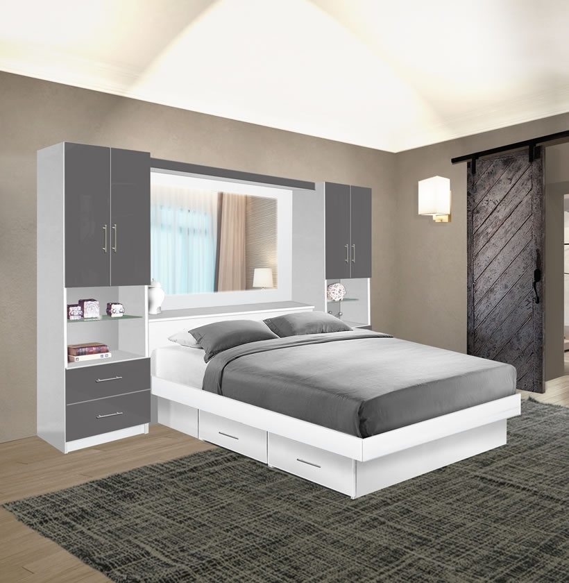 Studio Classic Pier Wall Mirrored Storage Bedroom Contempo Space,Rustic French Country Bedroom Furniture