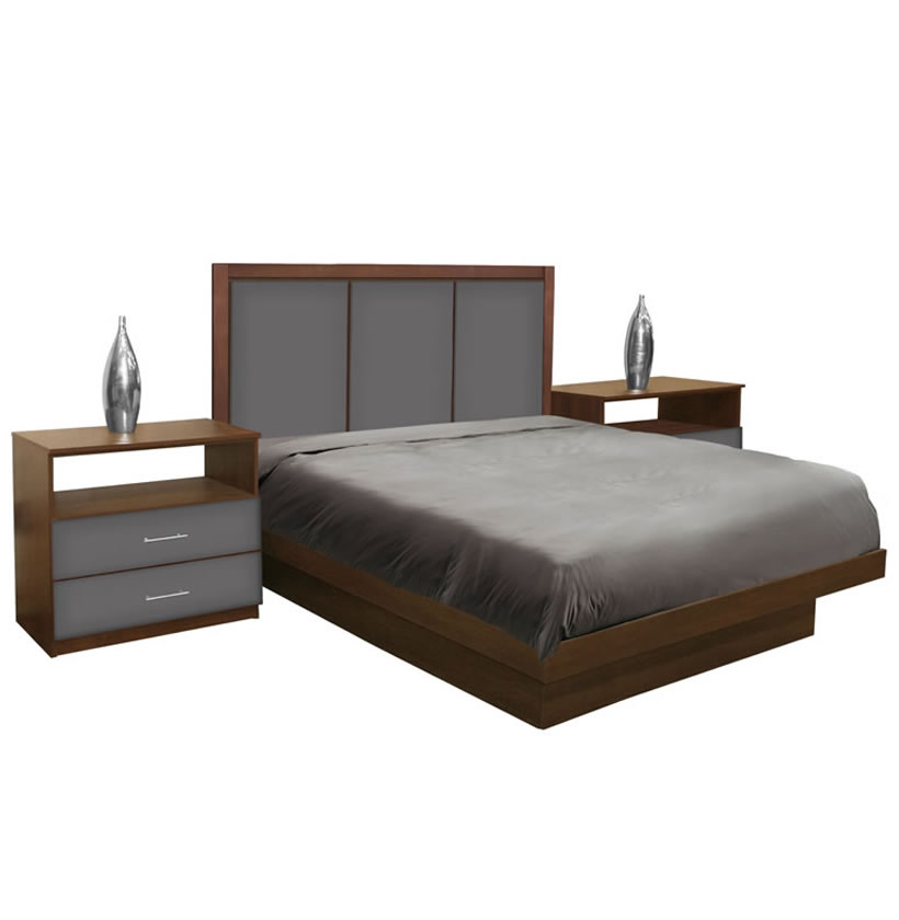 Monte Carlo Queen Size Platform Bedroom Set 4 Piece Contempo Space