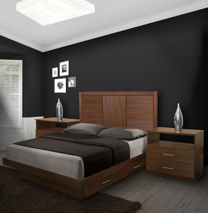 Monte Carlo Queen Size Bedroom Set W Storage Platform