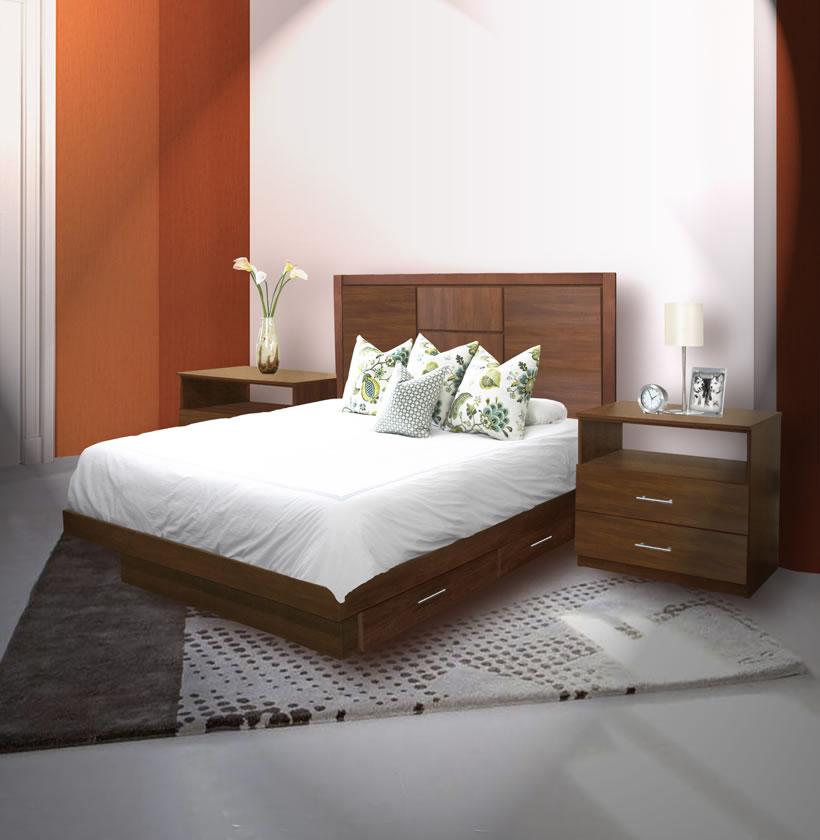 Broadway Queen Size Bedroom Set W Storage Platform