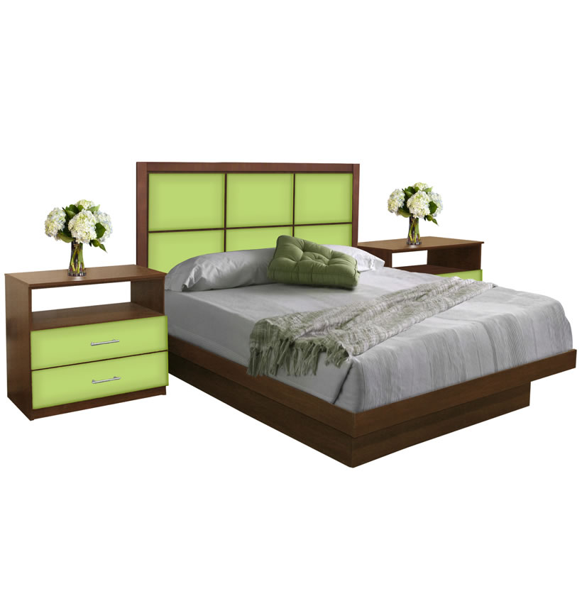 Rico queen size platform bedroom set 4 piece contempo space for 3 piece queen size bedroom set