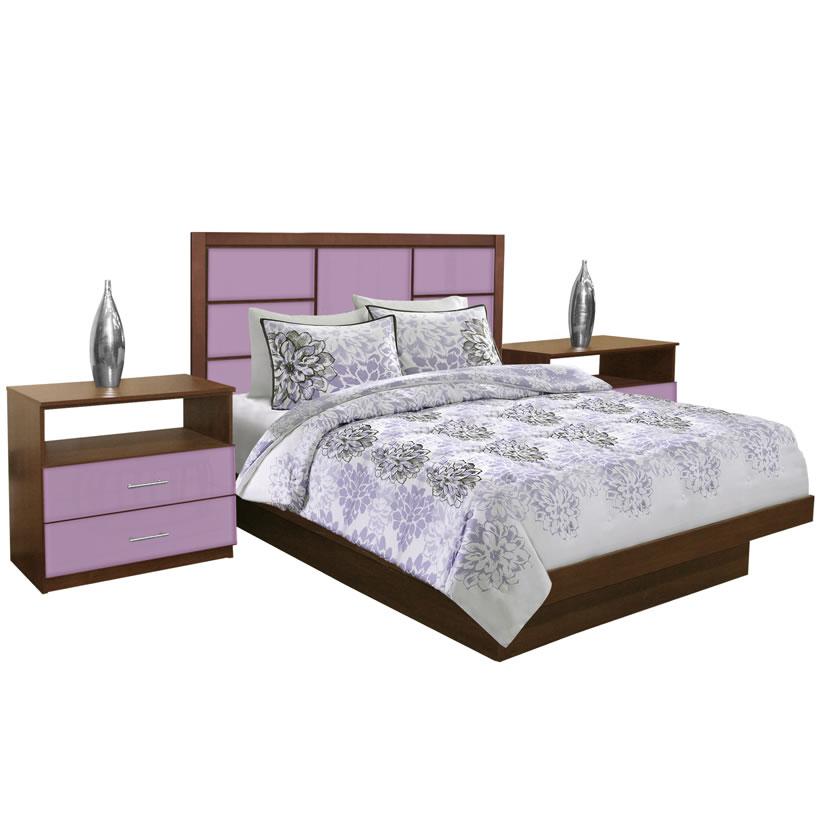 Montclair Queen Size Platform Bedroom Set 4 Piece Contempo Space