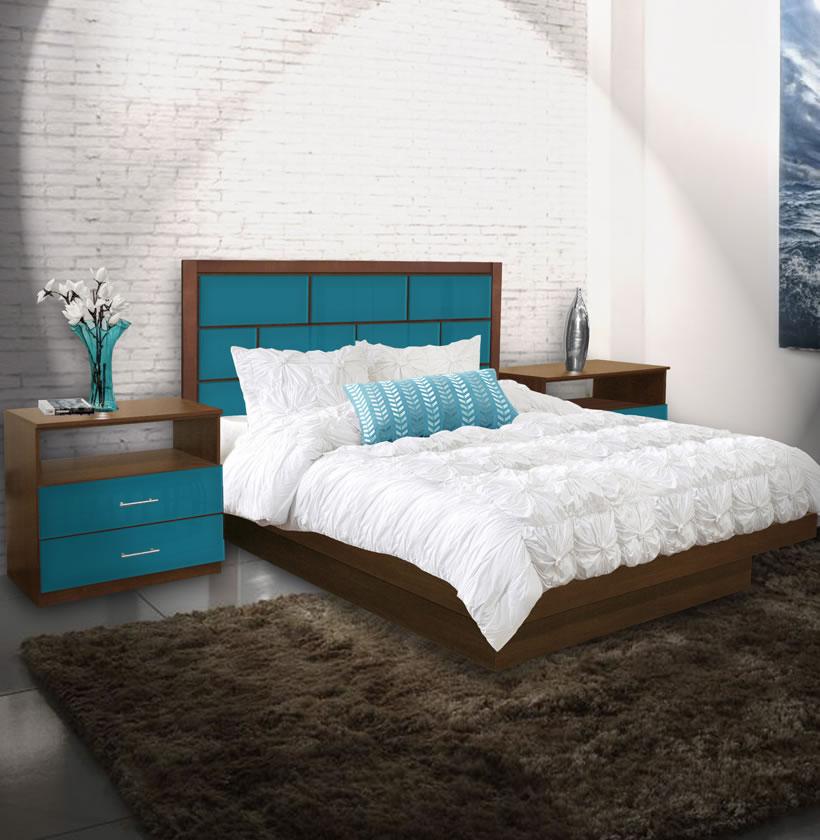 Manhattan King Size Platform Bedroom Set 4 Piece